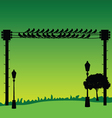 nature with sparrow and street lights vector image vector image