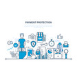 payment protection guarantee security of deposits vector image