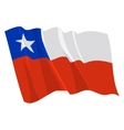 political waving flag of chile vector image vector image