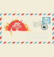postal envelope with on travel theme vector image