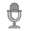 radio microphone linear icon vector image vector image
