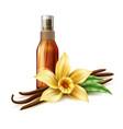 realistic skin care spray vanilla flower vector image vector image