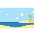 Seaside beautiful scenery cartoon vector image