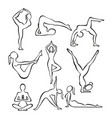 set of contour silhouettes vector image vector image