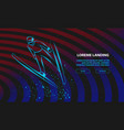 ski jumping athlete in fly position sport vector image vector image