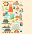 south korea seamless pattern korean traditional vector image vector image