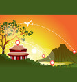 south korea travel landmark landscape beautiful vector image vector image