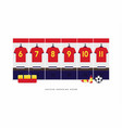 spain football or soccer team dressing room vector image