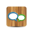 Speech bubbles on wood vector | Price: 1 Credit (USD $1)