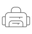 sport bag thin line icon sport and baggage vector image vector image