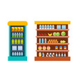 store food products shopping mall vector image
