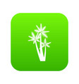 three tropical palm trees icon digital green vector image vector image