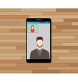 video call technology on smartphone graphic vector image vector image
