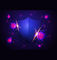 virus attack concept shield protect health vector image