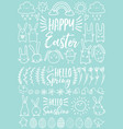 white easter doodles set vector image vector image