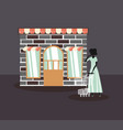 woman retro shopping vector image