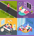 women health design concept vector image