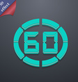 60 second stopwatch icon symbol 3D style Trendy vector image vector image