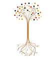 Abstract roots and branches tree set vector image vector image