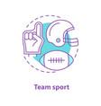 american football concept icon vector image
