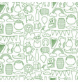 backgroundwith saint patrick day line icons vector image vector image