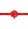 big horizontal bow made of ribbon with small vector image vector image