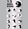 bird icons collection vector image vector image