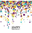 birthday card with polka dots and wishes text vector image vector image