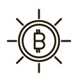 bitcoin cryptocurrency financial business stock vector image