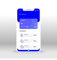 blue online banking ui ux gui screen for mobile vector image vector image