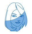 cartoon character woman face design vector image vector image