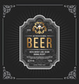 classic vintage frame for beer labels banner vector image