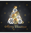 Decorative Christmas tree from snowflakes vector image