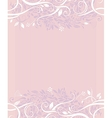 Decorative wedding background vector image vector image