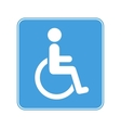 disabled wheelchair sign on white vector image
