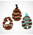 Easter egg ribbons set vector image vector image