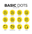 file flat icons set vector image vector image