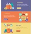 flat design digital marketing concept card vector image