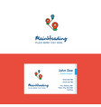 flat map route logo and visiting card template vector image vector image