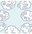 Funny cartoon clouds background with space for vector image vector image