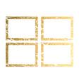 gold frame with border frame golden vector image vector image