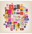 Happy Birthday card 15 vector image vector image