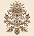 Henna Paisley Flower vector image vector image
