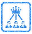 hierarchy men framed stamp vector image vector image