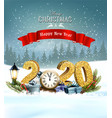 holiday christmas background with 2020 and vector image vector image