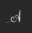 Letter A monogram logo black and white mockup line vector image vector image