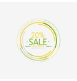Minimal line design shopping stamps sale vector image