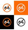 no motorcycle sign city public signs vector image vector image