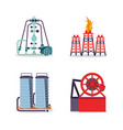 oil industry set icons vector image vector image