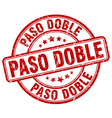 paso doble red grunge round vintage rubber stamp vector image vector image
